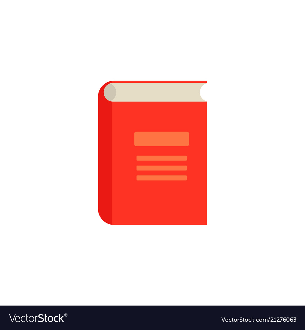 Flat closed book icon