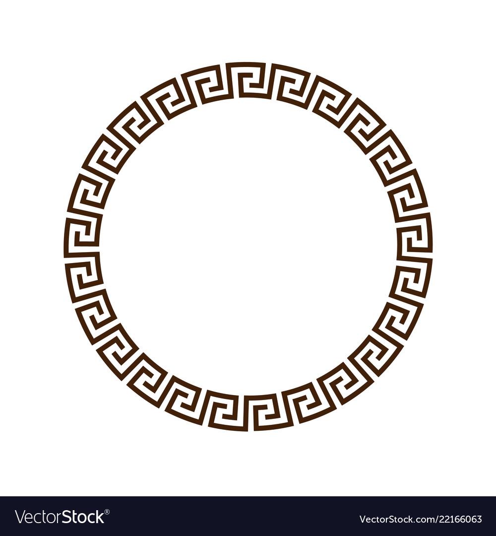 Greek round decorative frame for design