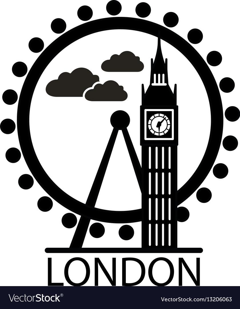 London city skyline silhouette