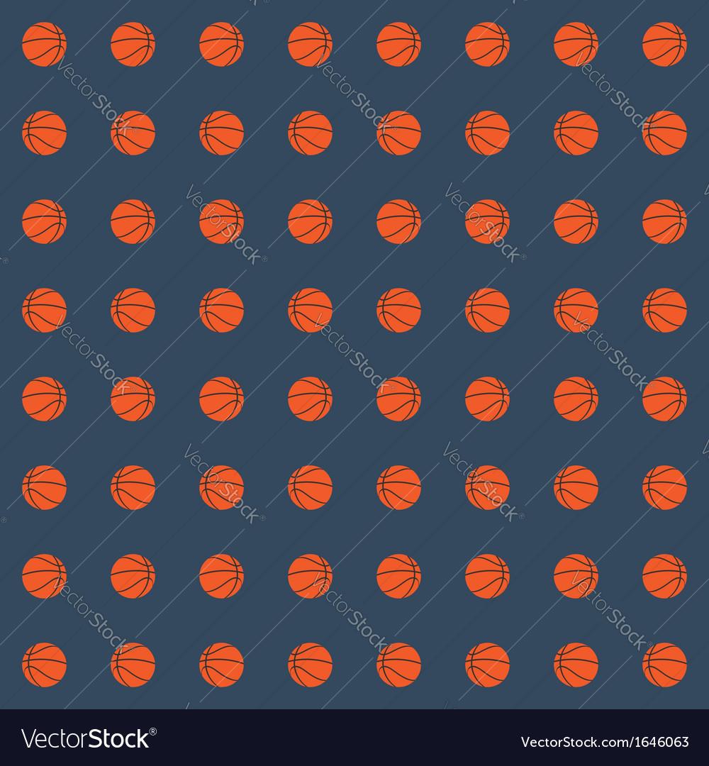 Seamless pattern with basketball balls