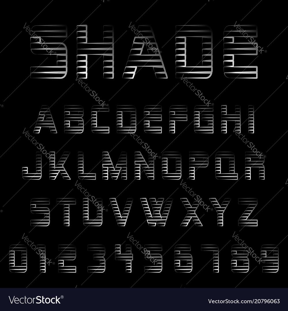 Shade alphabet font template