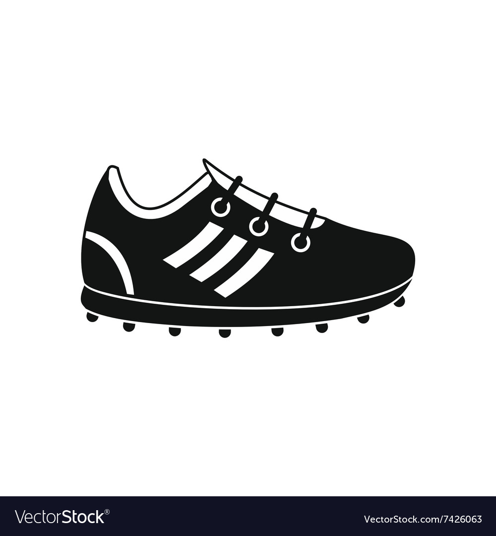 2c7985ae5ad Soccer shoes black simple icon Royalty Free Vector Image
