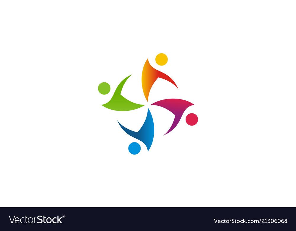 Circle people diversity logo