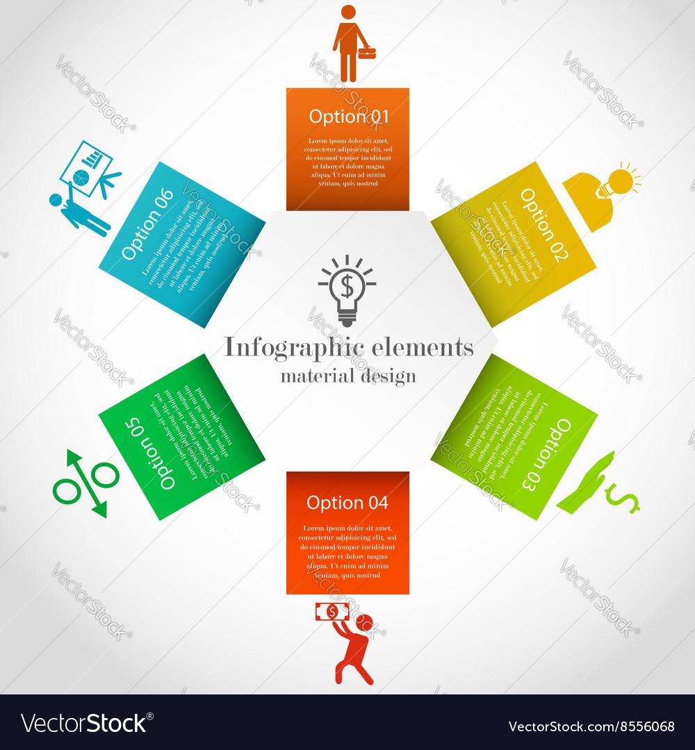 Hexagon infographic elements