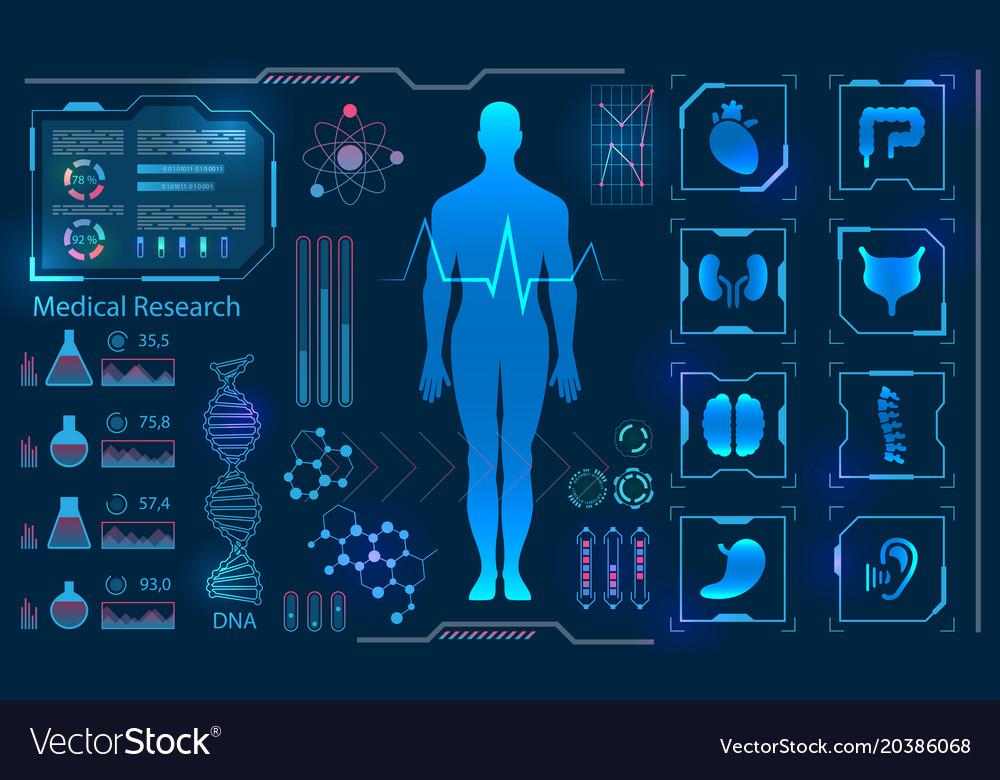Medical health care human virtual body hi tech