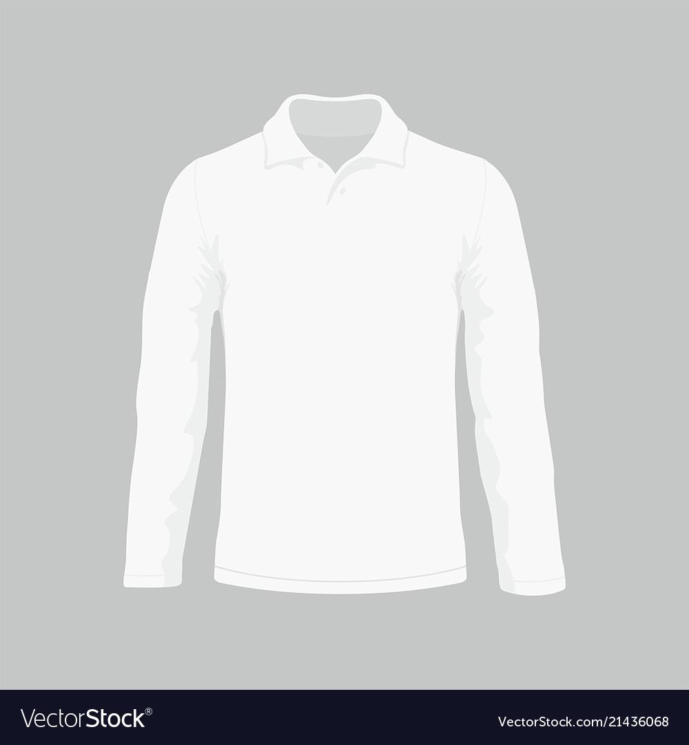 53632647ade5 Mens white long sleeve t-shirt Royalty Free Vector Image