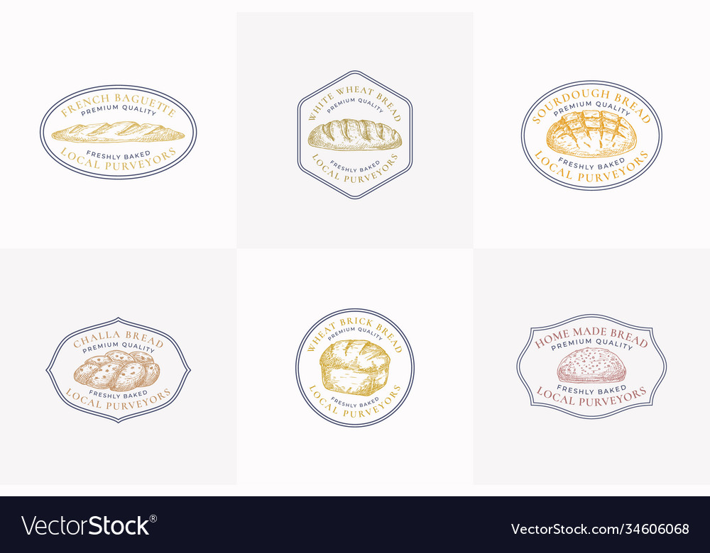 Premium quality bread signs or logo