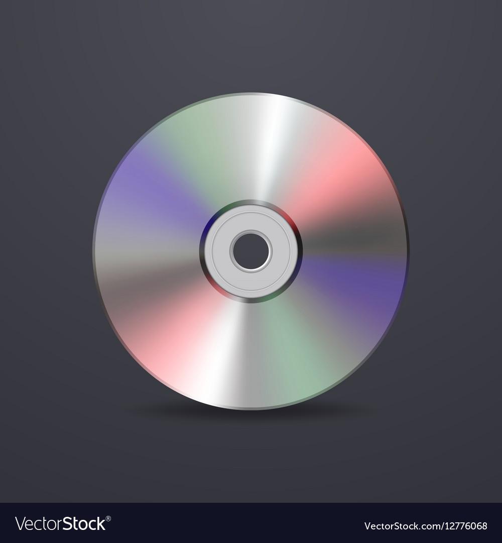 Realistic cd icon Design template