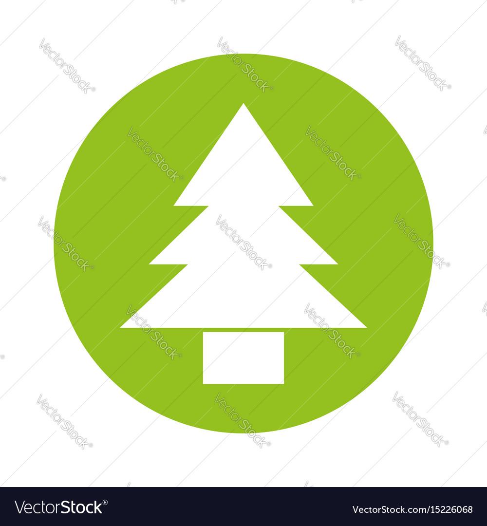 Round icon cute tree cartoon