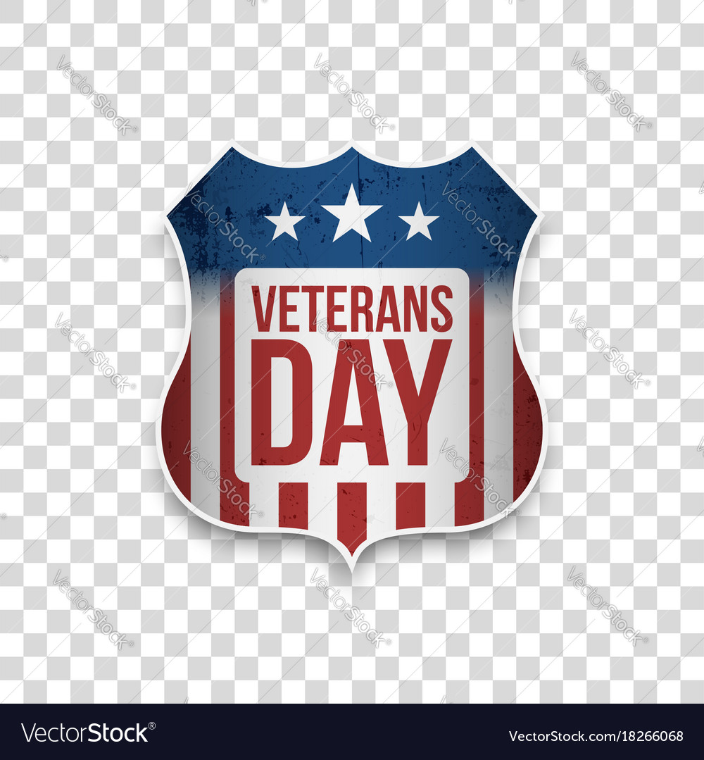 Veterans day greeting shield with text royalty free vector veterans day greeting shield with text vector image m4hsunfo