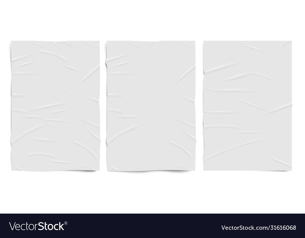 White badly glued paper texture wet wrinkled