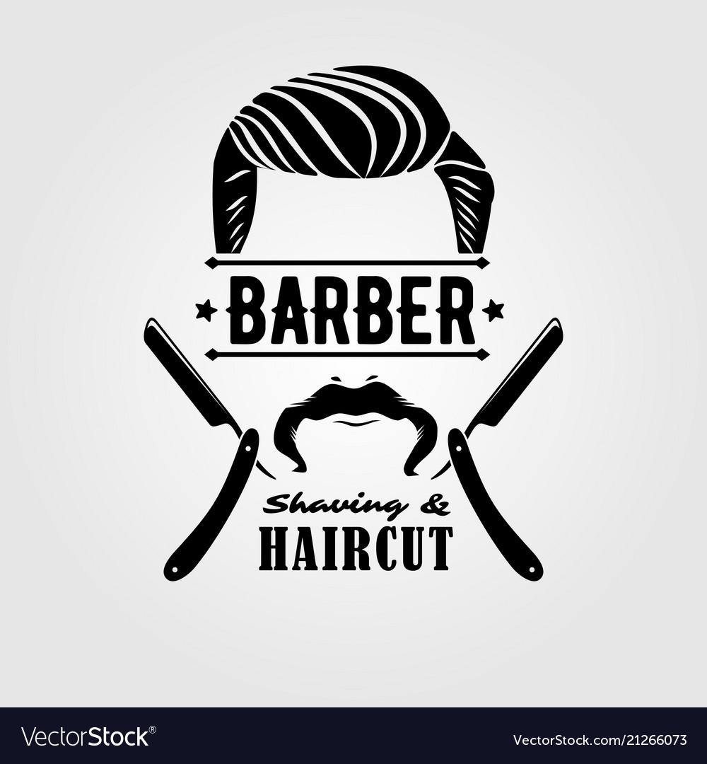 Barbershop vintage label badge or emblem
