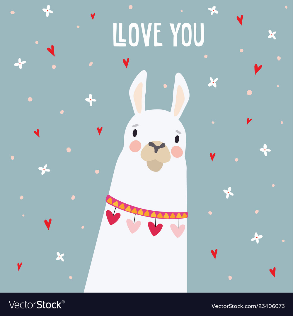 Cute birthday or valentines day greeting card