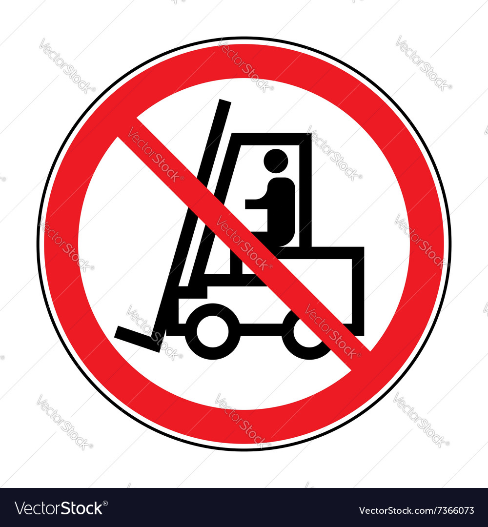 Forklift truck no sign vector image