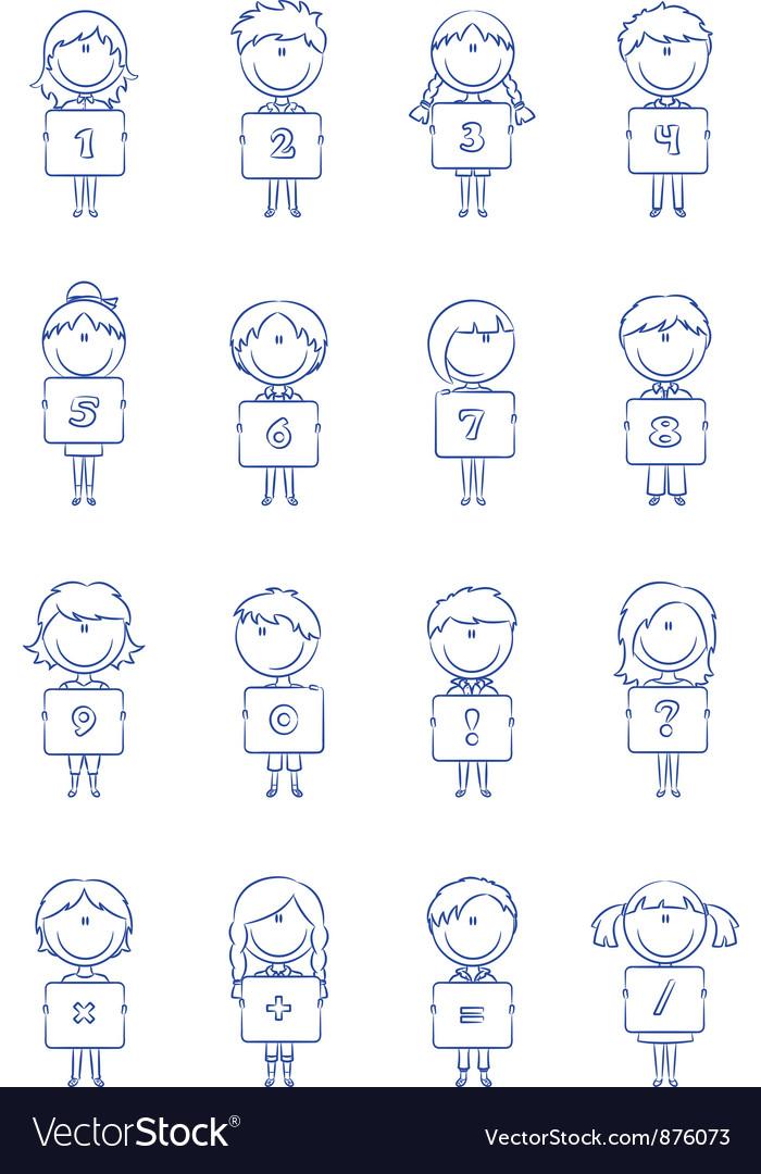 Kid Numbers And Symbols