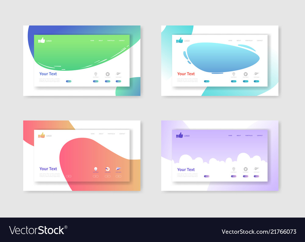 Set of website templates landing page layouts
