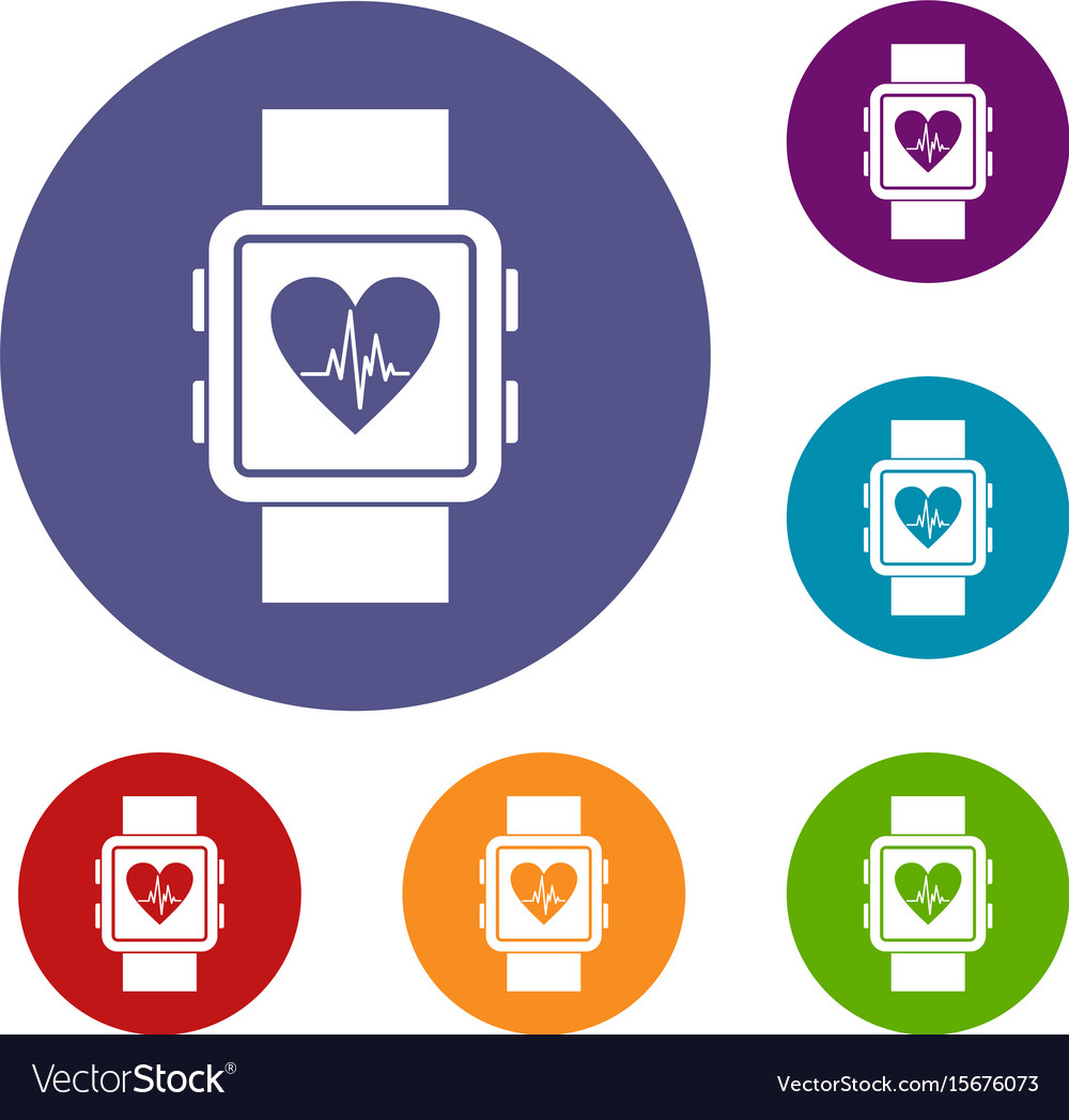 Smartwatch icons set vector image