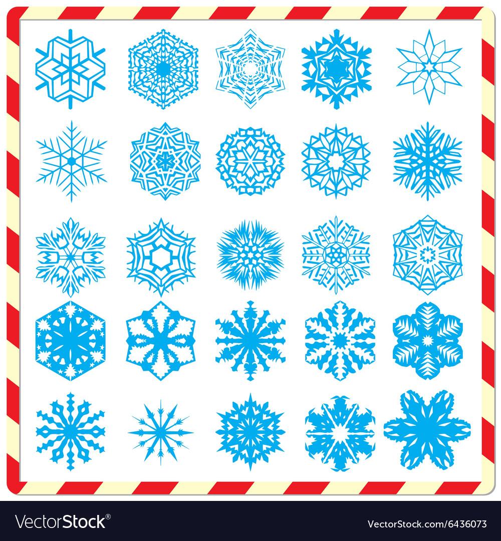 Snowflake silhouettes set