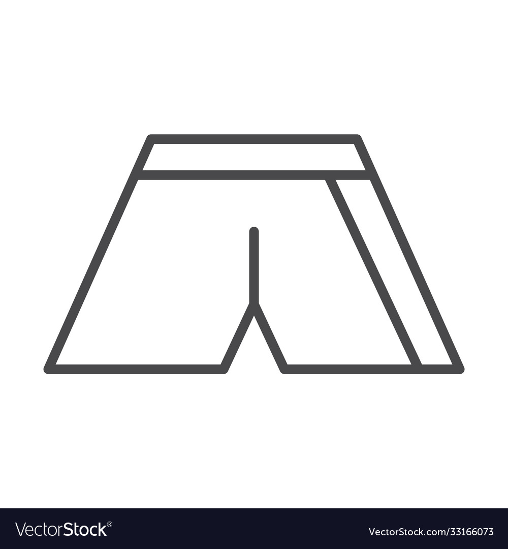 Sport shorts clothes fashion line icon design