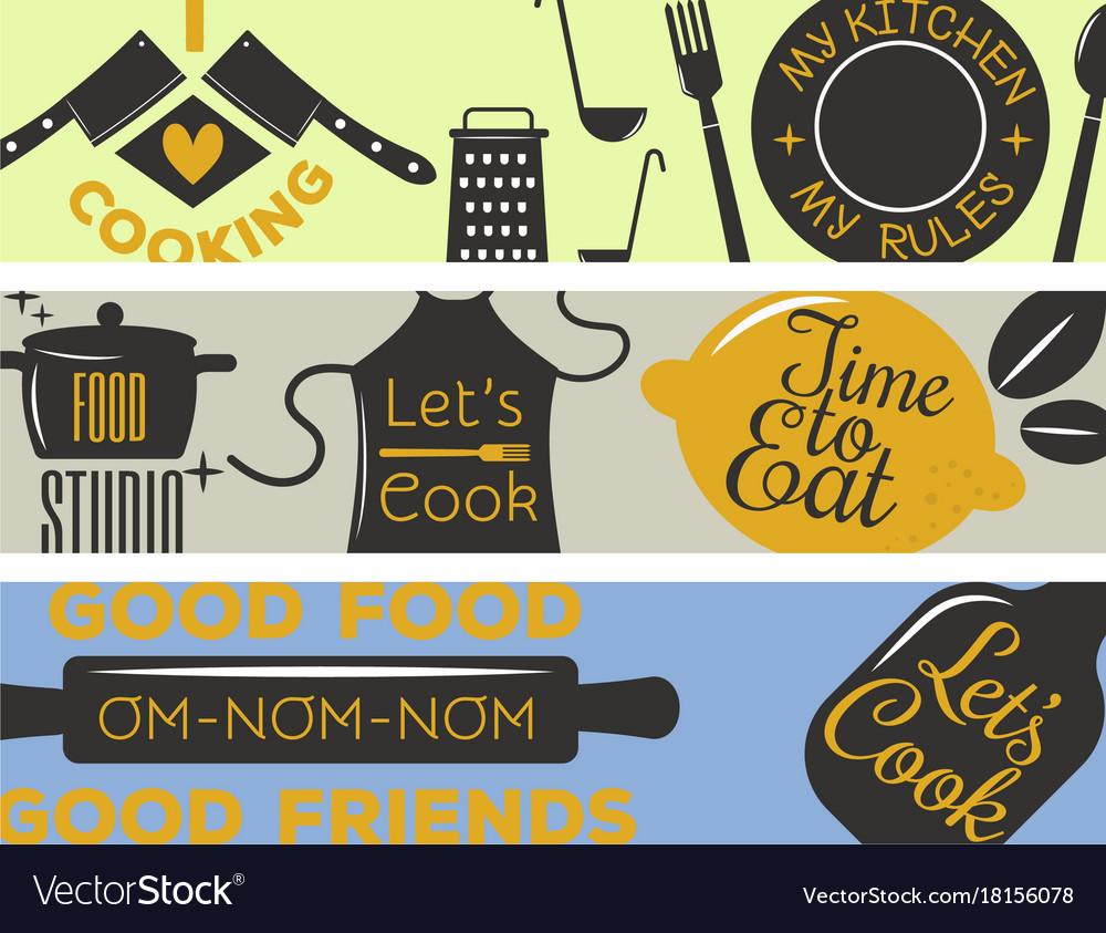 Bakery shop badges and cooking labels design