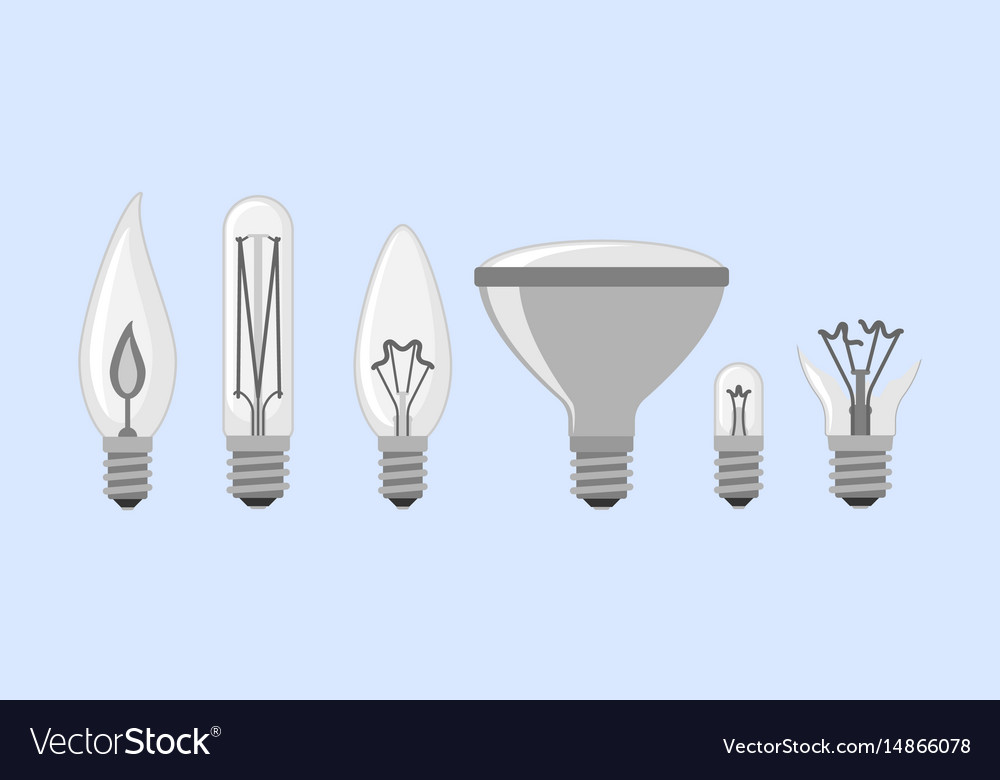 Cartoon lamp light bulb design flat royalty free vector