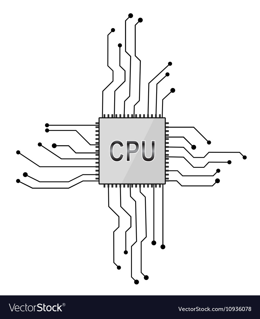 Central processor eps 10 vector image