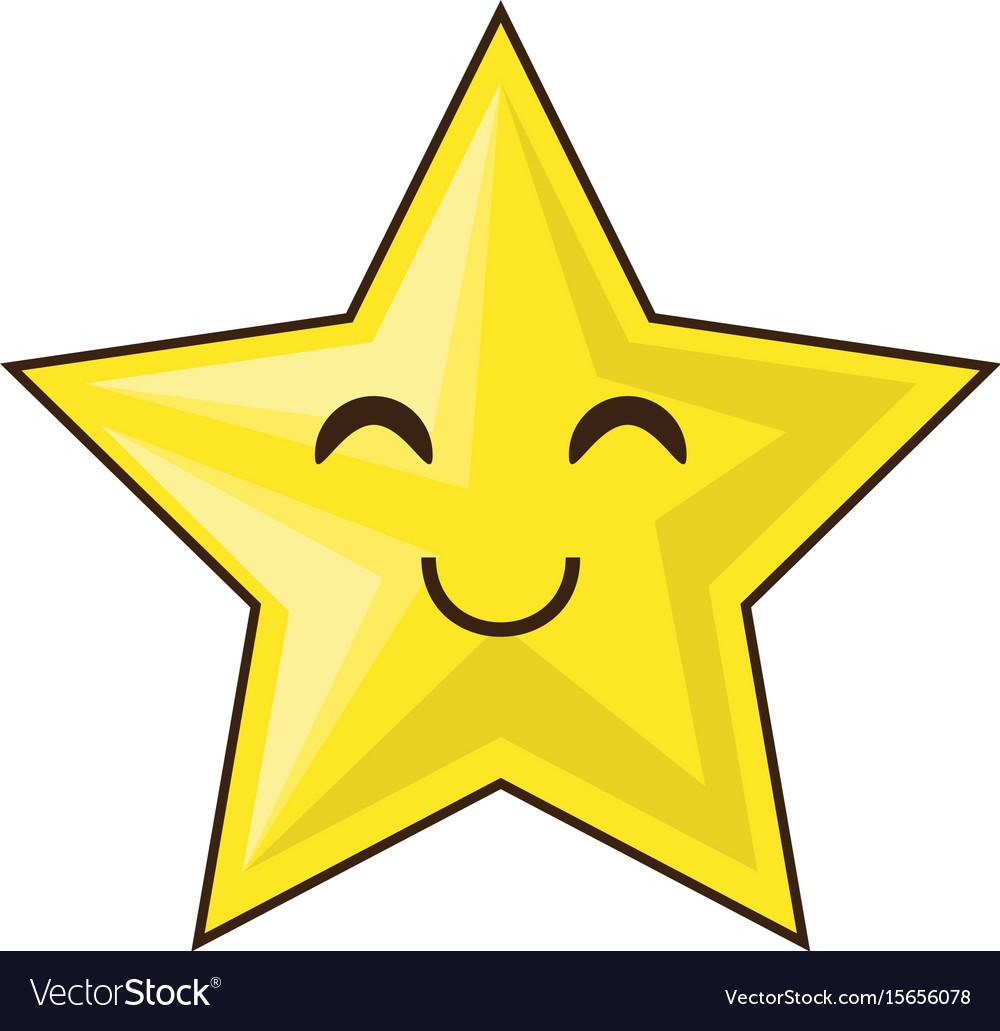 Cute Star Cartoon Royalty Free Vector Image Vectorstock
