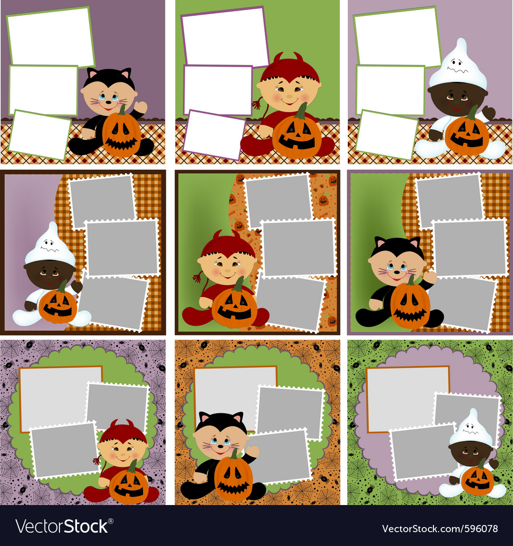 halloween photo frames royalty free vector image