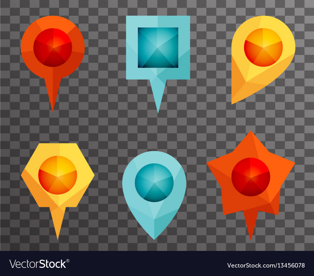 Landmark and showplace symbol map pointer mark vector image