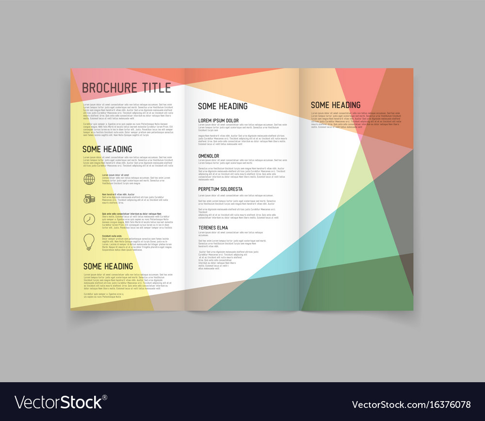 modern three fold brochure design template vector image