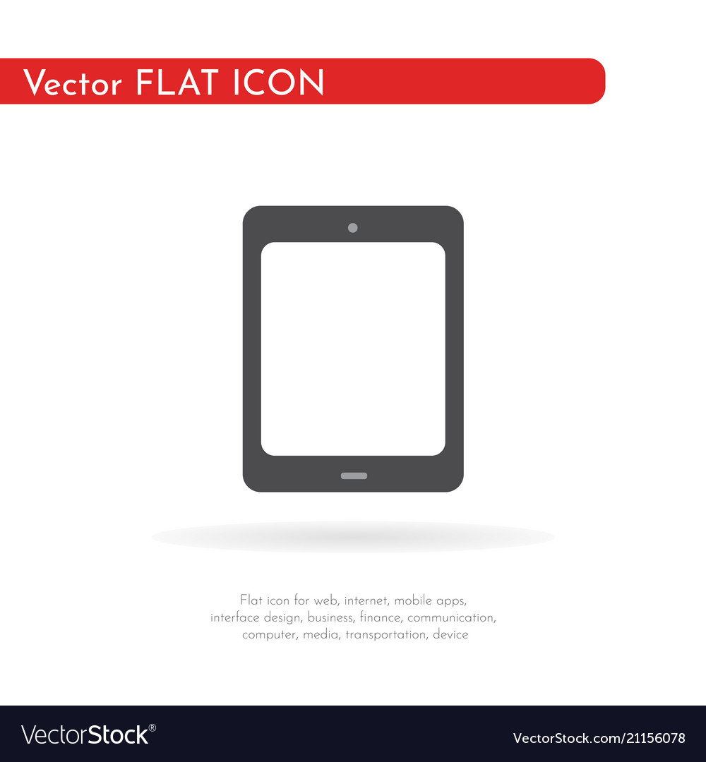 Tablet icon flat design style