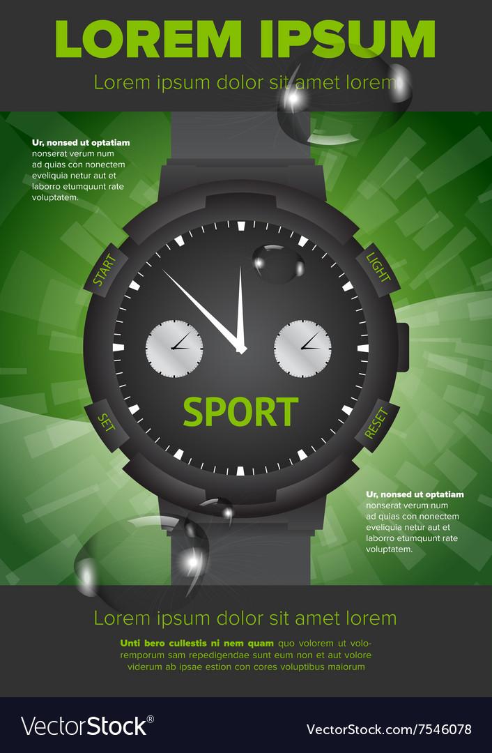 Watches flayer design