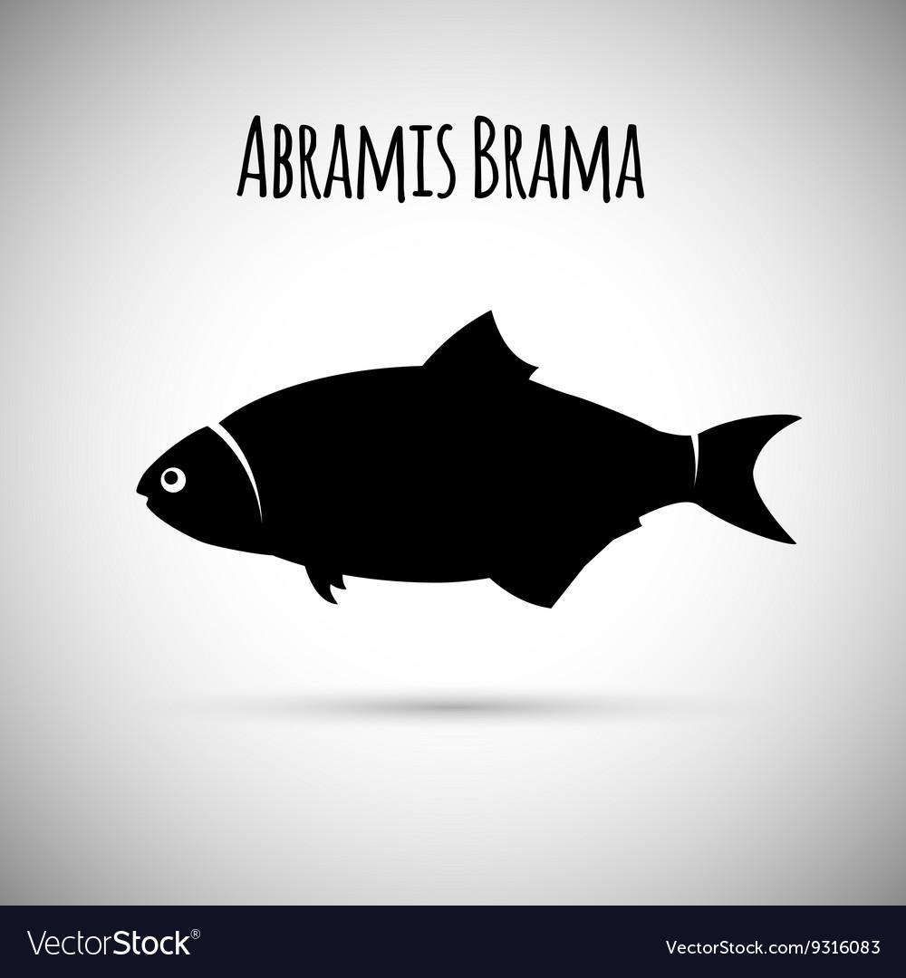 Abramis brama Bream fish logo icon