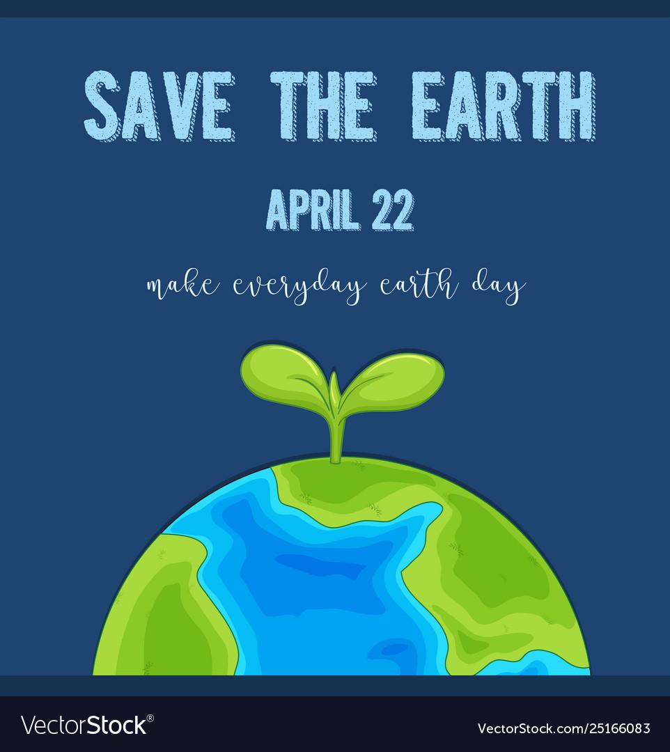 An earth day logo