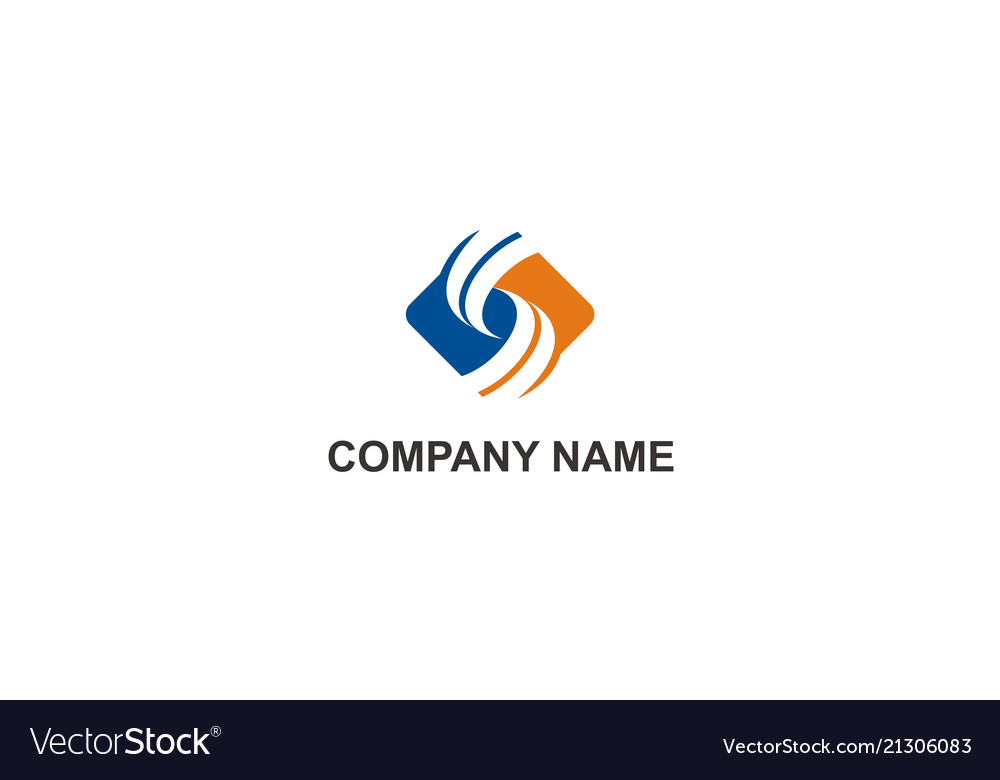 Circle square business finance company logo