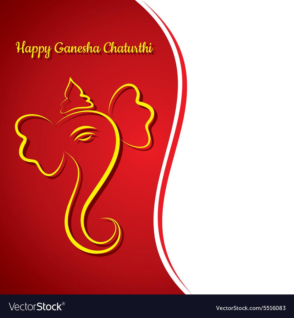 Creative Ganesh Chaturthi Festival Greeting Card B