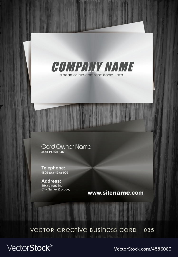 Metallic business card Royalty Free Vector Image