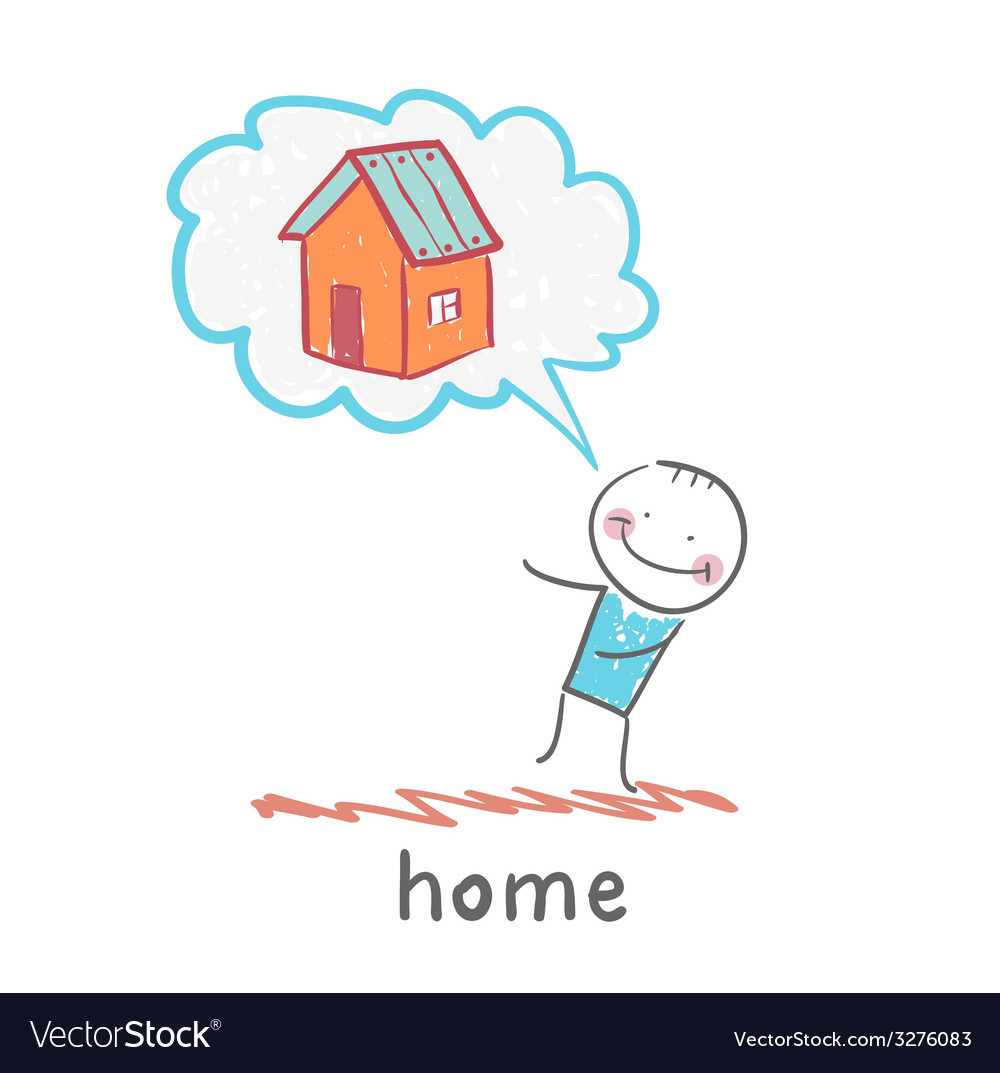 Person thinks of house vector image