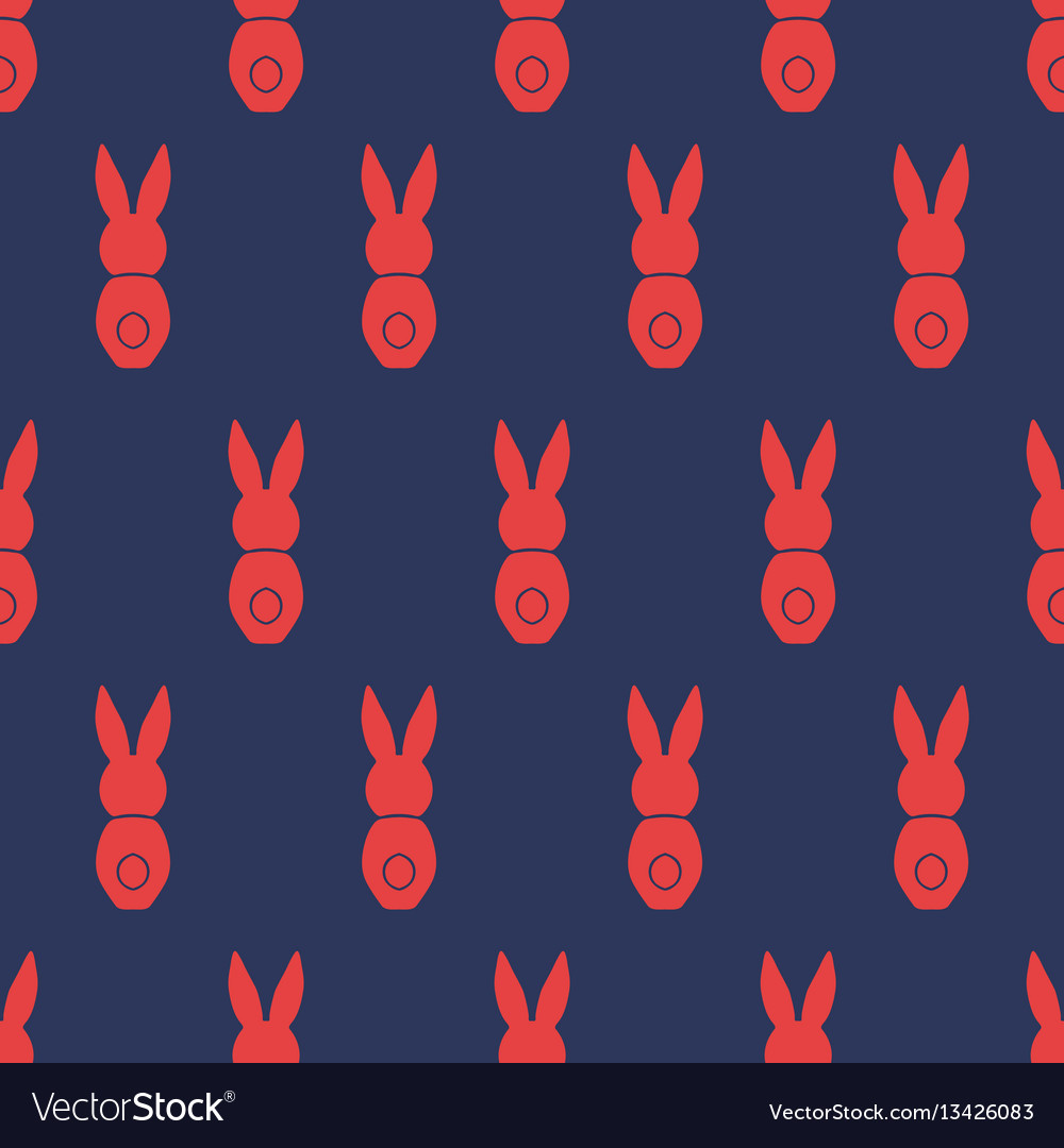 Seamless pattern easter greeting with bunnies