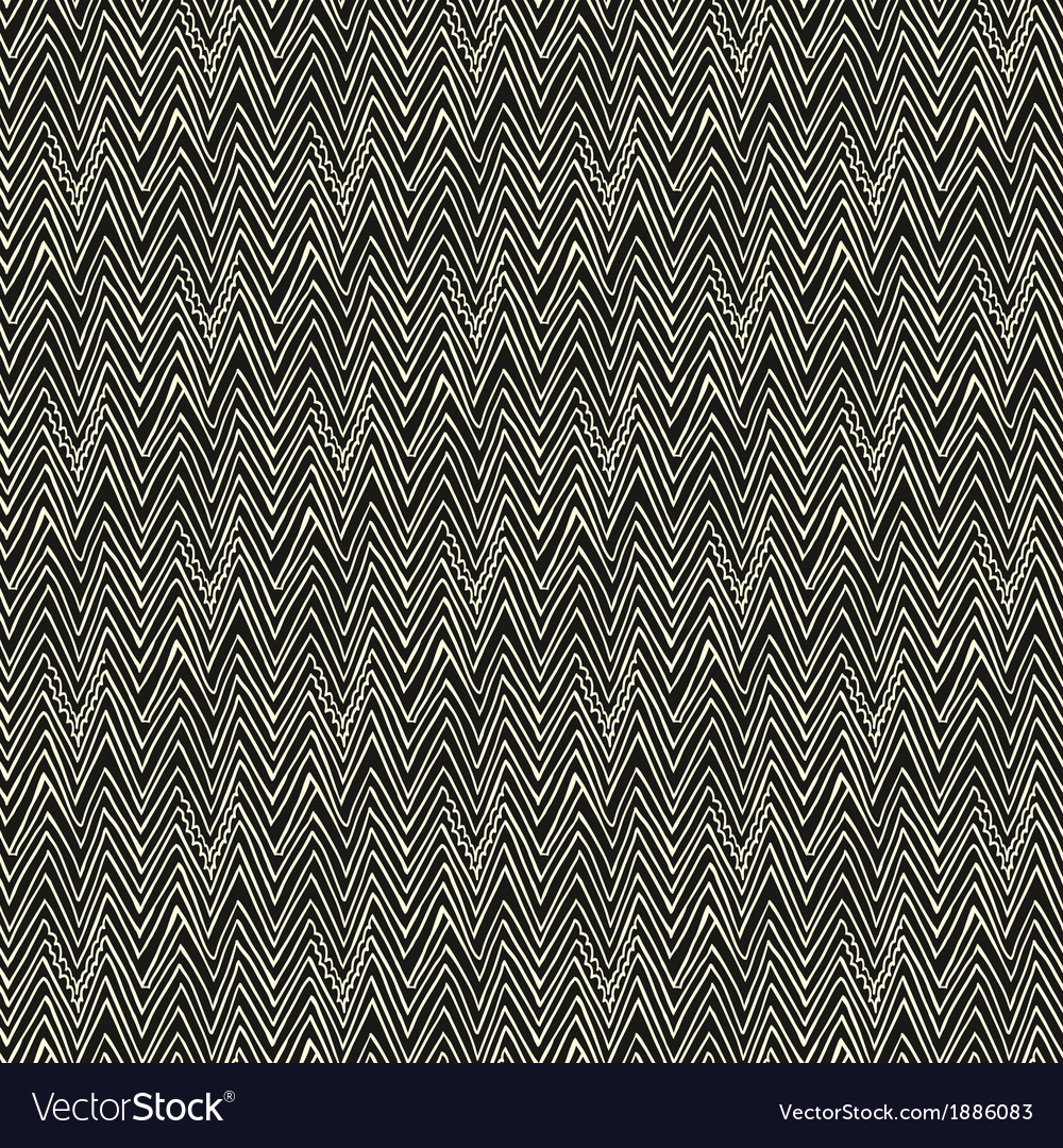 Simple linear pattern with zigzag lines vector image