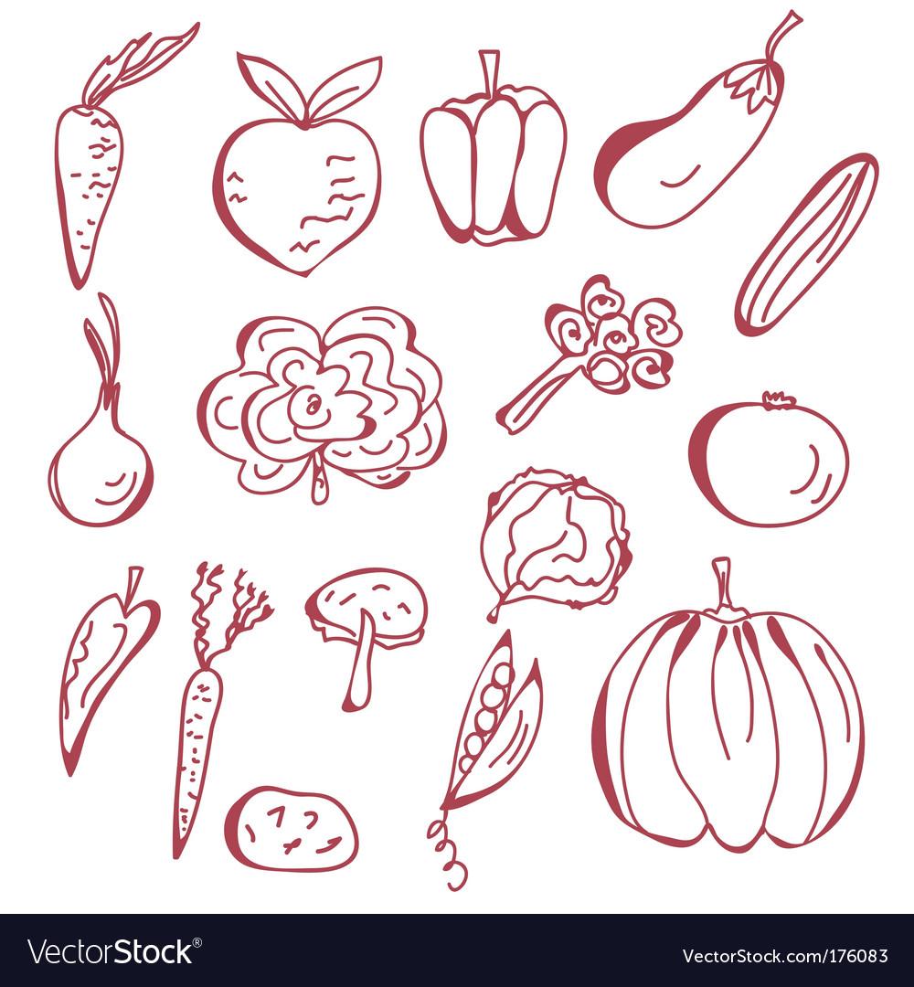 Sketch of vegetables