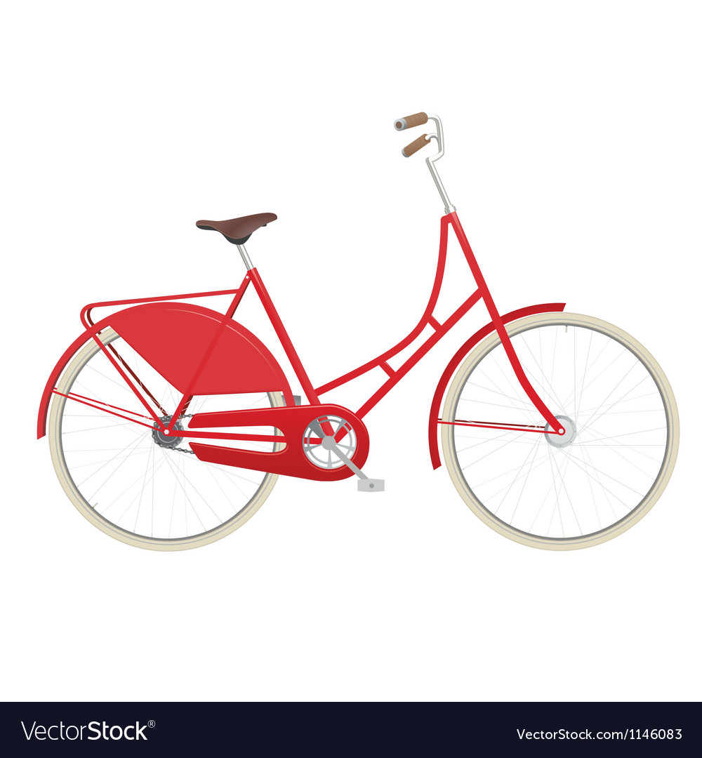 Vintage ladies bicycle vector image