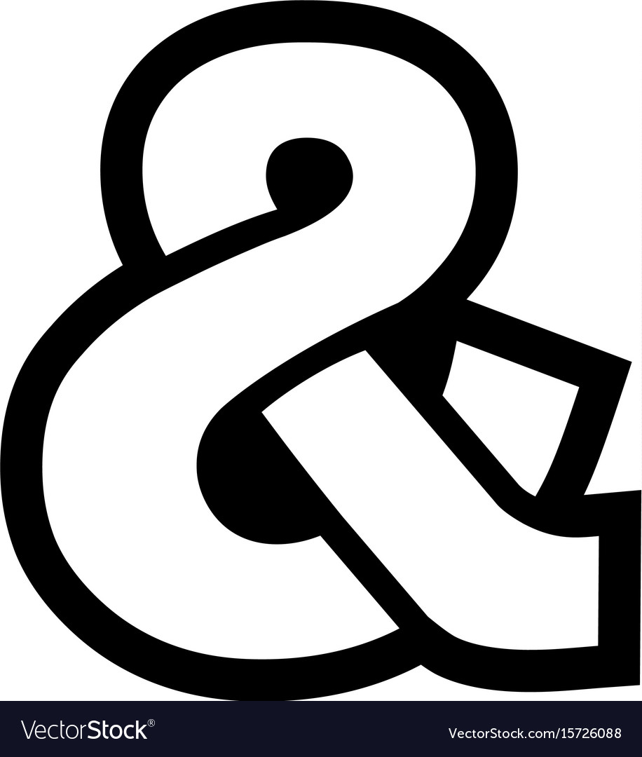 ampersand icon royalty free vector image vectorstock