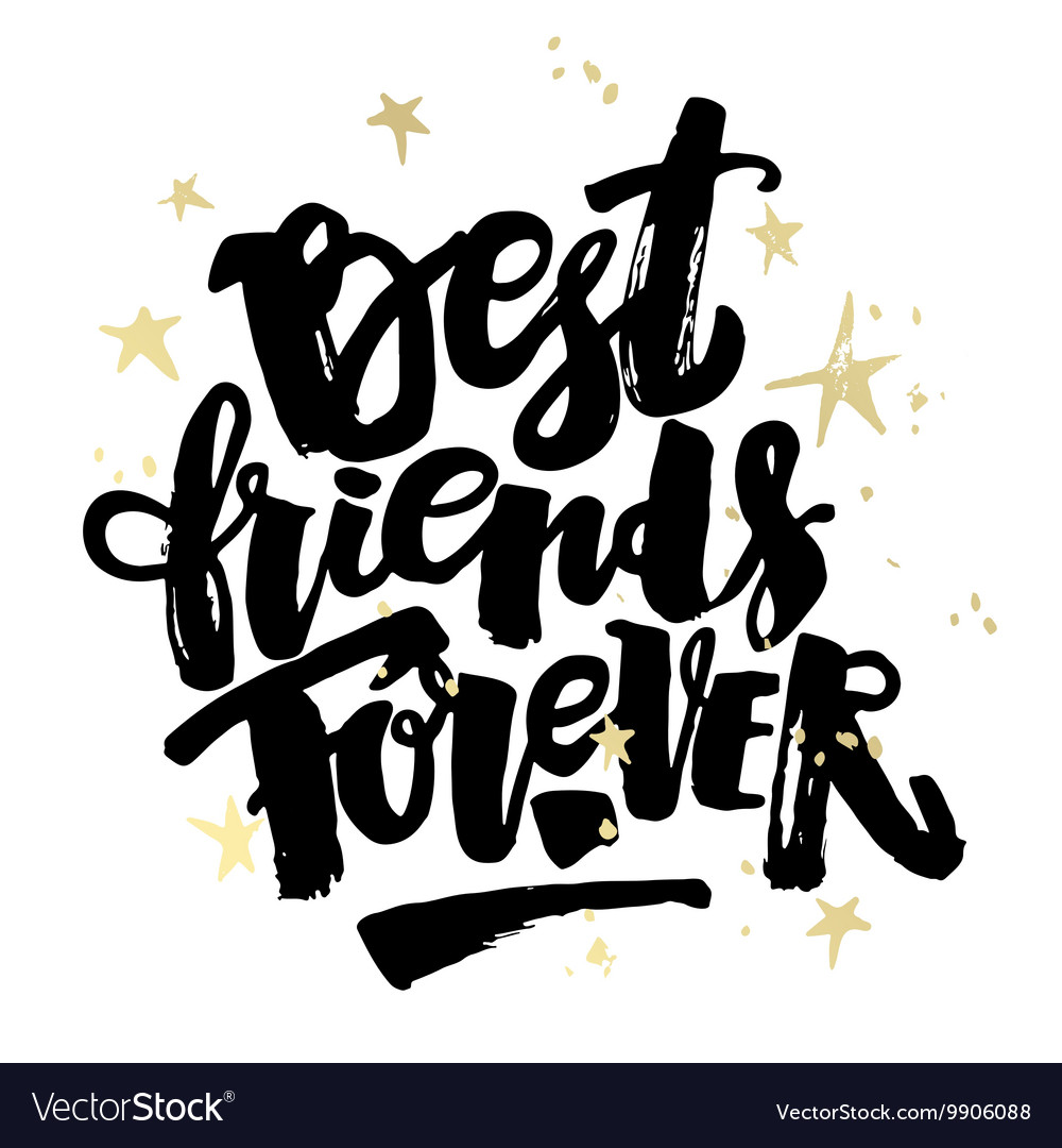 best friends forever royalty free vector image