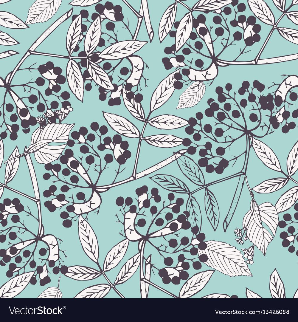 Creeper berries seamless pattern