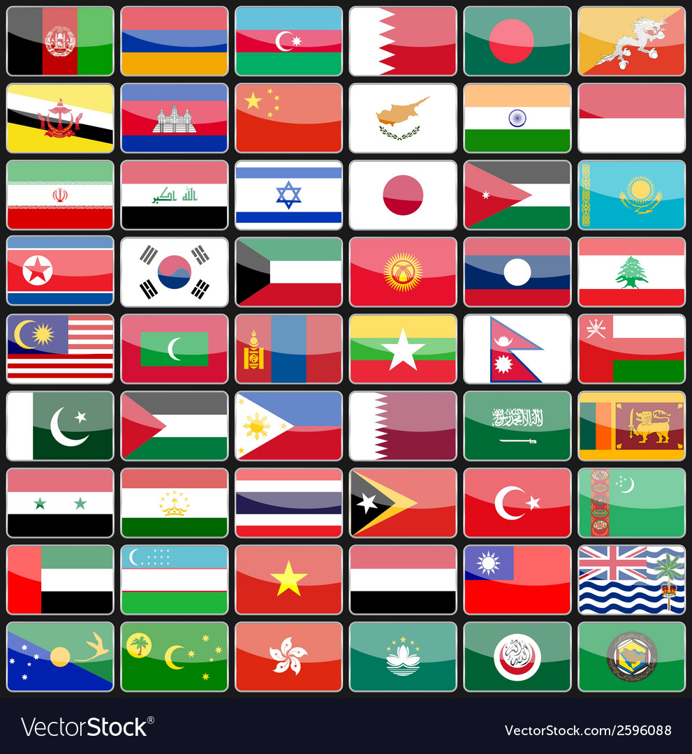 Elements of design icons flags of the countries of