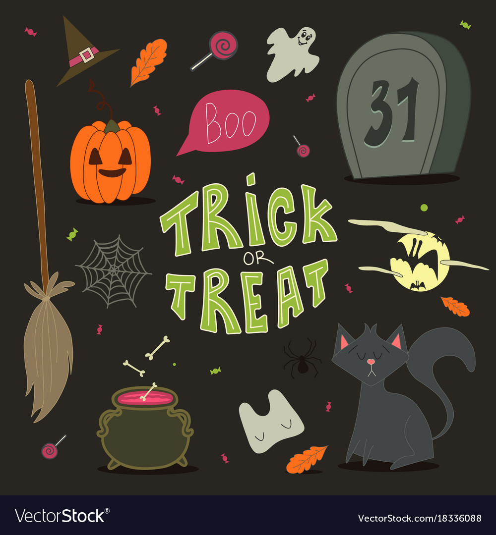 Happy halloween background card for your design