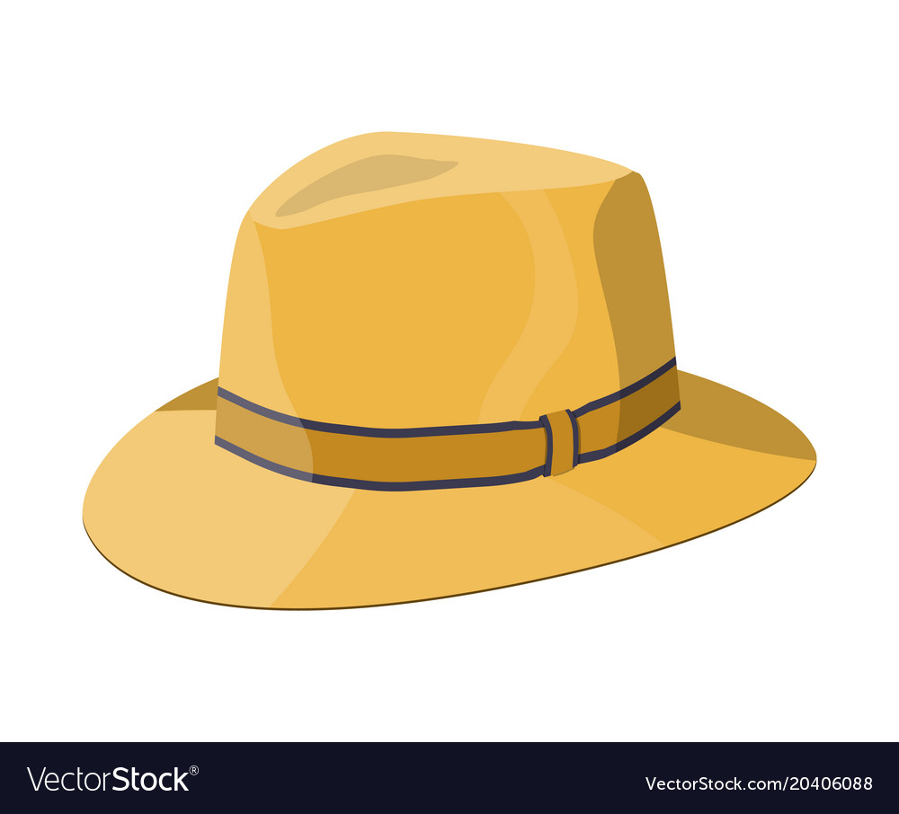 Men straw hat straw sunhat isolated on white