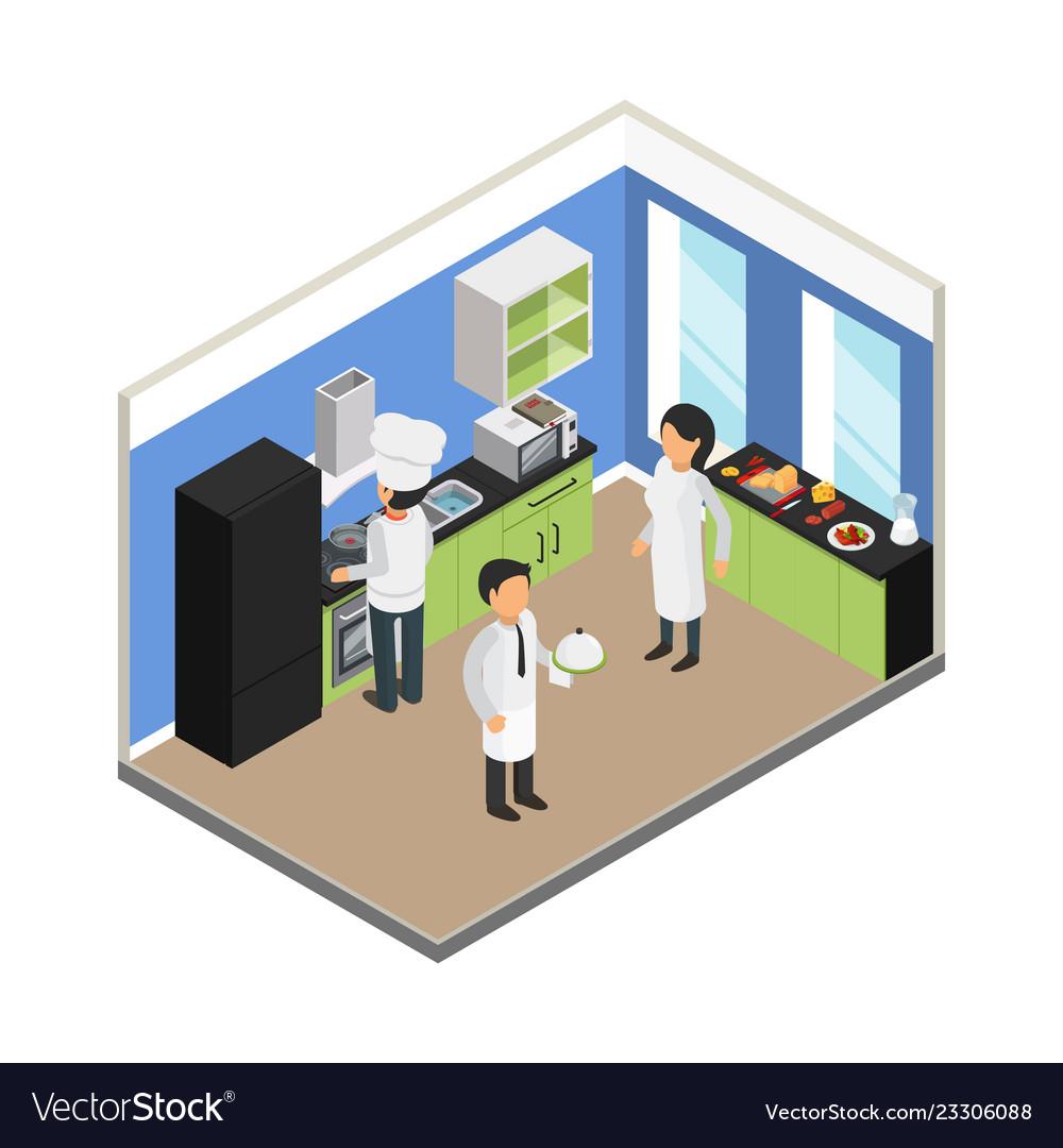 Restaurant kitchen commercial food business