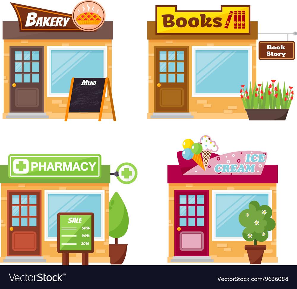 Shop front vector image
